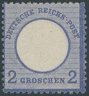 Dt. Reich 20 **, 1872, 2 Gr. Ultramarin, Kleine Marke (L 15), Postfrisch, Pracht, Gepr. Hennies - Deutschland