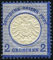 Dt. Reich 20 **, 1872, 2 Gr. Ultramarin, Postfrisch, Pracht, Mi. 100.- - Deutschland