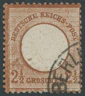 Dt. Reich 21a O, 1872, 21/2 Gr. Mittelrötlichbraun, Normale Zähnung, Farbfrisch Pracht, Kurzbefund Sommer, Mi. 100.- - Deutschland