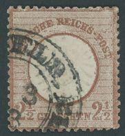 Dt. Reich 21b O, 1872, 21/2 Gr. Lilabraun, Kleines Format (L 15)!, K2 ELBERFELD Bhf., Ein Kurzer Zahn, Sonst üblich Gezä - Deutschland