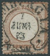 Dt. Reich 21b O, 1872, 21/2 Gr. Lilabraun, Hufeisenstempel (HA)MBURG I.A., Feinst (leichte Zahnmängel), Gepr. Sommer, Mi - Deutschland