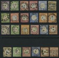 Dt. Reich O , 1872-74, 24 Sauber Gestempelte Brustschilde (Mi.Nr. 1-10, 14-23, 25-27, 29), Feinst/Pracht, Mi. 2378.- - Deutschland
