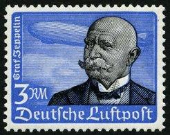 Dt. Reich 539x **, 1934, 3 RM Graf Zeppelin, Senkrechte Gummiriffelung, Pracht, Mi. 200.- - Deutschland