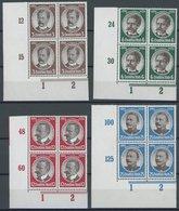 Dt. Reich 540-43 VB **, 1934, Kolonialforscher In Linken Unteren Eckrandviererblocks, Postfrisch, Pracht - Deutschland