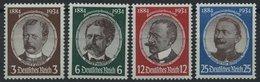 Dt. Reich 540-43 **, 1934, Kolonialforscher, Prachtsatz, Mi. 190.- - Deutschland