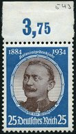 Dt. Reich 543 **, 1934, 25 Pf. Wissmann, Pracht, Mi. 120.- - Deutschland