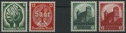 Dt. Reich 544-47 **, 1934, Saarabstimmung Und Reichsparteitag, 2 Prachtsätze, Mi. 175.- - Deutschland