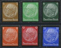 Dt. Reich 548-53 **, 1934, Hindenburg-Trauer, Prachtsatz, Mi. 150.- - Deutschland