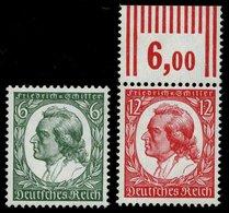 Dt. Reich 554/5 **, 1934, Schiller, Pracht, Mi. 100.- - Deutschland