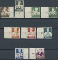 Dt. Reich 556-64 **, 1934, Stände, Prachtsatz Vom Rand, Mi. 600.- - Deutschland