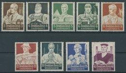 Dt. Reich 556-64 *, 1934, Stände, Falzrest, Prachtsatz, Mi. 100.- - Deutschland
