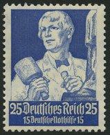 Dt. Reich 563 **, 1934, 25 Pf. Stände, Normale Zähnung, Pracht, Mi. 120.- - Deutschland