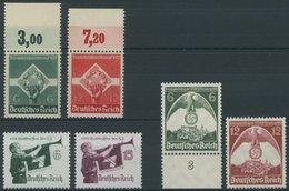 Dt. Reich 571/2,584-87x **, 1935, 3 Postfrische Prachtsätze, Mi. 100.- - Deutschland