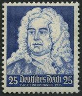 Dt. Reich 575I **, 1935, 25 Pf. Händel Mit Abart 1585 Statt 1685, Pracht, Mi. 70.- - Deutschland