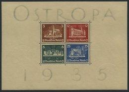 Dt. Reich Bl. 3 *, 1935, Block OSTROPA, Vollständiger Originalgummi!, Falzreste Im Rand, Marken Postfrisch, Pracht, Mi.  - Deutschland