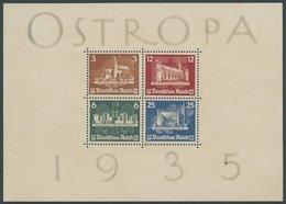 Dt. Reich Bl. 3 (*), 1935, Block OSTROPA, Ohne Gummi, Kleiner Randfehler Sonst Pracht, Mi. 1300.- - Deutschland