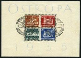 Dt. Reich Bl. 3 O, 1935, Block OSTROPA, Sonderstempel, Zähnung Minimal Gestaucht Sonst Pracht, Mi. 1100.- - Deutschland