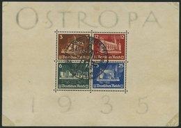Dt. Reich Bl. 3 O, 1935, Block OSTROPA, Ersttags-Sonderstempel, Feinst (leichte Randmängel), Mi. 900.- - Deutschland