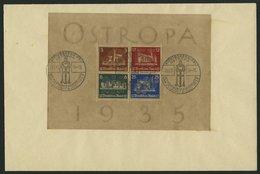 Dt. Reich Bl. 3 BRIEF, 1935, Block OSTROPA, Sonderstempel, Auf Umschlag, Pracht - Deutschland