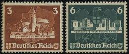 Dt. Reich 576/7 (*), 1935, 3 Und 6 Pf. OSTROPA, Ohne Gummi, 2 Prachtwerte, Mi. 90.- - Deutschland