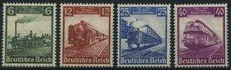 Dt. Reich 580-83 **, 1935, 100 Jahre Eisenbahn, Prachtsatz, Mi. 130.- - Deutschland