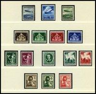 Dt. Reich 603-659 **, 1936/7, 2 Komplette Jahrgänge Ohne Blocks Auf Lindner Falzlosseiten, Pracht, Mi. 509.- - Deutschland