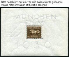 Dt. Reich Bl. 4 *, 1936, Block München-Riem, 9x Feinst (Einzelmarken Alle Postfrisch Pracht), Mi. 144.- - Deutschland
