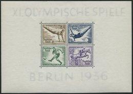 Dt. Reich Bl. 5 **, 1936, Block Olympische Spiele, Pracht, Mi. 120.- - Deutschland