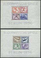Dt. Reich Bl. 5/6 **, 1936, Blockpaar Olympische Spiele, Pracht, Mi. 260.- - Deutschland