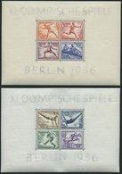 Dt. Reich Bl. 5/6 *, 1936, Blockpaar Olympische Spiele, Falzreste Im Rand, Pracht, Mi. 100.- - Deutschland