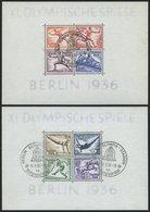 Dt. Reich Bl. 5/6 O, 1936, Blockpaar Olympische Spiele, Sonderstempel, Pracht, Mi. 180.- - Deutschland
