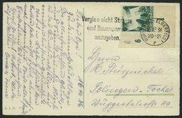 Dt. Reich 632 BRIEF, 1936, 6 Pf. Nürnberger Parteitag, Linke Untere Bogenecke Auf Ansichtskarte, Pracht - Deutschland