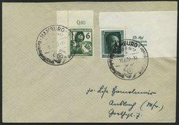 Dt. Reich 644,648 BRIEF, 1937, 6 Pf. Luftschutz Aus Der Oberen Bogenecke Und 6 Pf. Einzelmarke Block, Sonderstempel, Pra - Deutschland