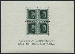 Dt. Reich Bl. 7 **, 1937, Block Hitler, Pracht, Mi. 70.- - Deutschland