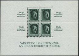 Dt. Reich Bl. 9 **, 1937, Block Kulturspende, Pracht, Mi. 320.- - Deutschland