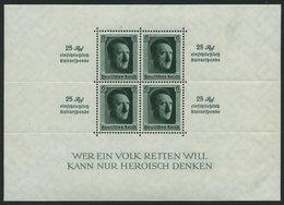 Dt. Reich Bl. 9 *, 1937, Block Kulturspende, Kleine Haftstelle Im Rand, Marken Postfrisch, Pracht - Deutschland