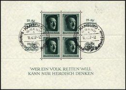 Dt. Reich Bl. 9 O, 1937, Block Kulturspende, Sonderstempel, Pracht, Mi. 90.- - Deutschland