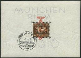 Dt. Reich Bl. 10 O, 1937, Block München-Riem, Ersttags-Sonderstempel, Pracht, Mi. (130.-) - Deutschland