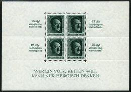 Dt. Reich Bl. 11 **, 1937, Block Reichsparteitag, Pracht, Mi. 320.- - Deutschland