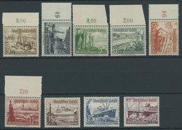 Dt. Reich 651-59 **, 1937, Schiffe, Postfrischer Prachtsatz, Mi. 100.- - Deutschland