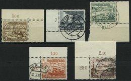 Dt. Reich 651/2,654/5,657 O, 1937, 5 Bogenecken, Pracht - Deutschland