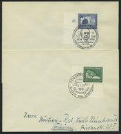 Dt. Reich 669/70 BRIEF, 1938, Graf Zeppelin, Je Aus Der Linken Unteren Bogenecke Auf Umschlag, Sonderstempel, Pracht - Deutschland