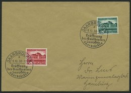 Dt. Reich 673/4 BRIEF, 1938, Gautheater Saarpfalz Auf FDC, Pracht - Deutschland
