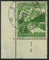 Dt. Reich 677 O, 1938, 5 Pf. Zell Am See, Untere Linke Bogenecke Mit Form-Nr. 4, Pracht - Deutschland