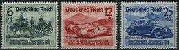 Dt. Reich 695-97 **, 1939, Nürburgring-Rennen, Normale Zähnung, Prachtsatz, Mi. 280.- - Deutschland