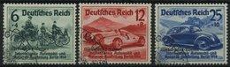 Dt. Reich 695-97 O, 1939, Nürburgring-Rennen, Prachtsatz, Mi. 100.- - Deutschland