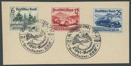 Dt. Reich 695-97 BrfStk, 1939, Nürburgring-Rennen Mit Sonderstempel Auf Briefstück, Mi. (100.-) - Deutschland