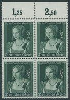 Dt. Reich 700 VB **, 1939, Tag Der Deutschen Kunst Im Oberrandviererblock, Postfrisch, Pracht, Mi. 140.- - Deutschland
