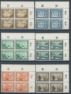 Dt. Reich 702-13 VB **, 1939, Kameradschaft In Oberen Rechten Eckrandviererblocks, Mi.Nr. 124 Eckbug (durch Eine Marke G - Deutschland