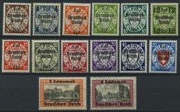 Dt. Reich 716-29 **, 1939, Danzig, Prachtsatz, Mi. 220.- - Deutschland